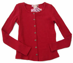 Ragdoll & Rockets Mars Red Thermal Cardi