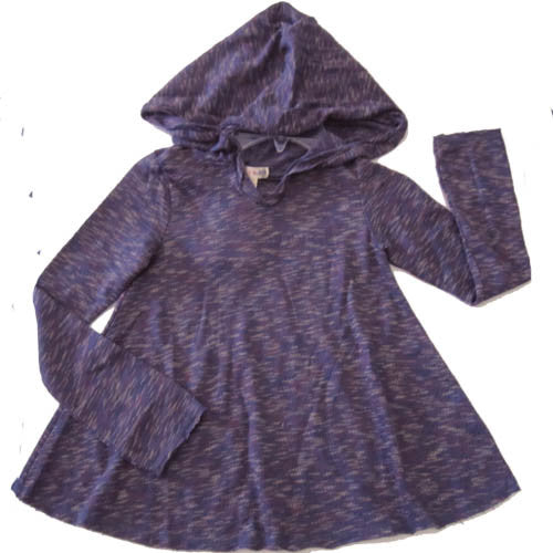 Ragdoll & Rockets Purple Multi Twist Knit Hoodie
