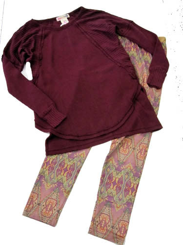 Ragdoll & Rockets Thermal Mix Tunic and Roman Leggings