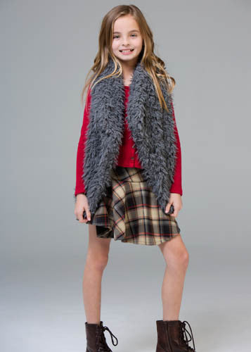 Ragdoll & Rockets Scuba Plaid Skater Skirt