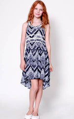 Truly Me Bandana Print Hi-Lo Dress