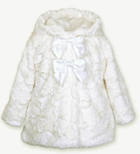 Widgeon Cloud Snow Double Bow Hooded Coat
