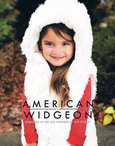 Widgeon Ice Frosting Cream Hooded Shaggy Vest