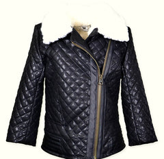 Widgeon Quilted Faux Leather Moto Jacket