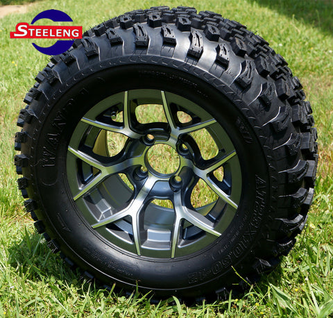 "12""x7"" GUNMETAL TEMPEST WHEELS and 23""x10.5""-12"" ALL TERRAIN TIRES (SET OF 4)"