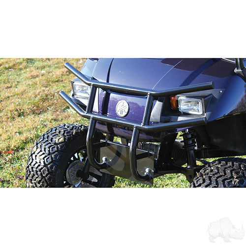Brush Guard, Front Black Powder Coat Steel, Yamaha Drive