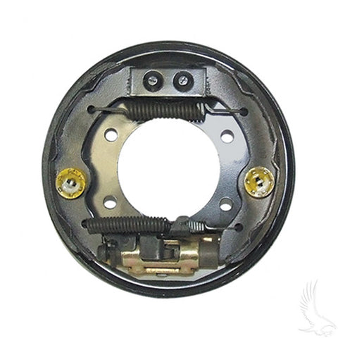 Brake Assembly, Driver's Side with Brake Shoes, E-Z-Go