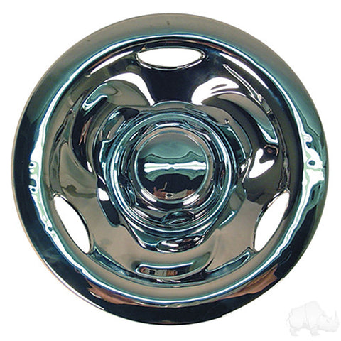 "Wheel Cover, 8"" Deep Dish Chrome"