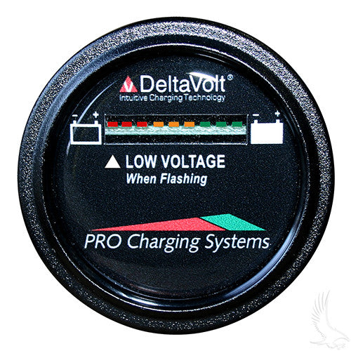 Dual Pro Battery Fuel Gauge, Round 48V System