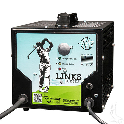 Battery Charger, Lester Link Series, 48V/13A Club Car 48V (for use w/o OBC)