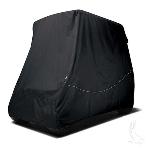 "Cover, Black, Carts w/ 80"" Top"