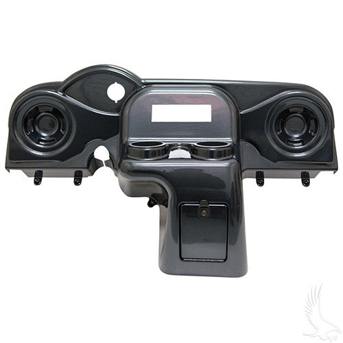 Dash, Deluxe with Radio/Speaker Cutout, Carbon Fiber, E-Z-Go RXV