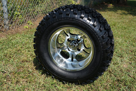 "12""x7"" LIGHTSIDE  WHEELS and 23""x10.5""-12"" ALL TERRAIN TIRES (SET OF 4)"