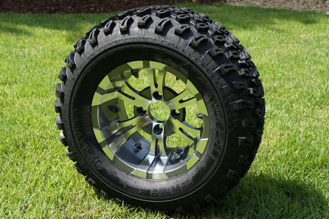 "12""x7"" GUNMETAL VAMPIRE WHEELS and 23""x10.5""-12"" ALL TERRAIN TIRES (SET OF 4)"