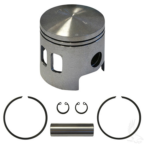Piston and Ring Assembly, .50mm oversized, E-Z-Go 2-cycle Gas 89-93 2 port oversized pistons