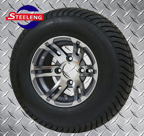 "10"" GUNMETAL BULLDOG WHEELS and 205/50-10 DOT LOW PROFILE TIRES (SET OF 4)"