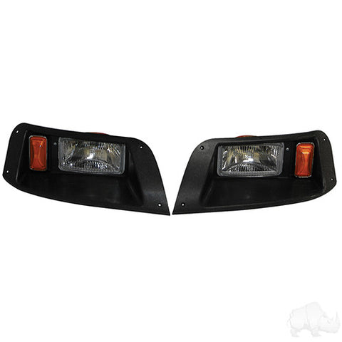 Adjustable Headlights with Bezels, E-Z-Go TXT 96-13