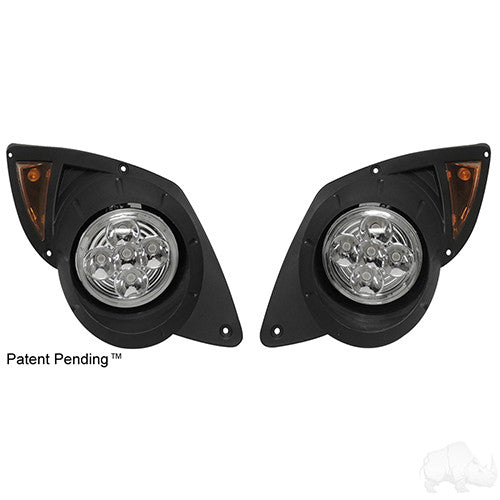 LED Factory Style Headlights with Bezels, Yamaha Drive