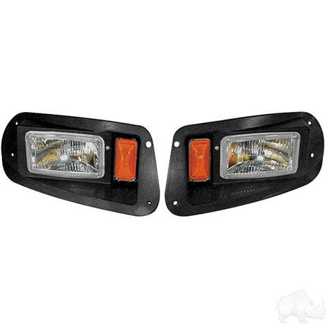 Adjustable Headlights with Bezels, E-Z-Go RXV