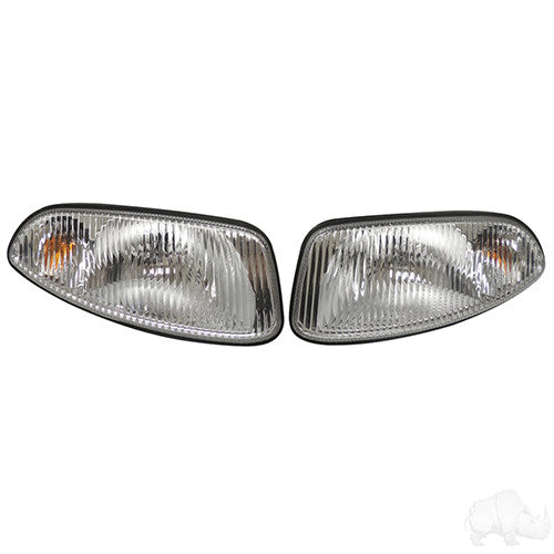 Factory Style Headlights with Bezels, E-Z-Go RXV