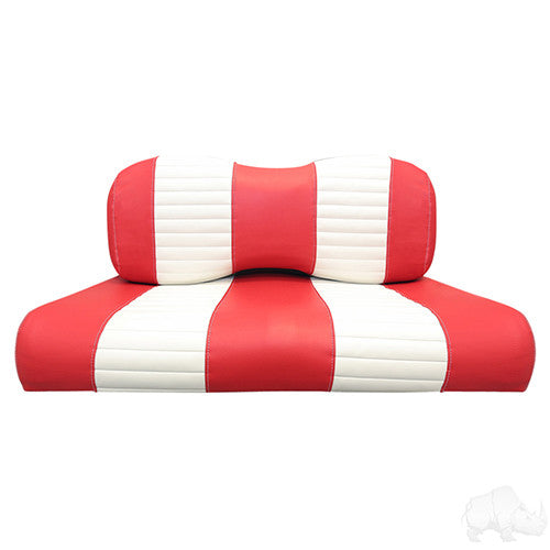 Seat Back & Bottom Covers, Red/White, Yamaha Drive