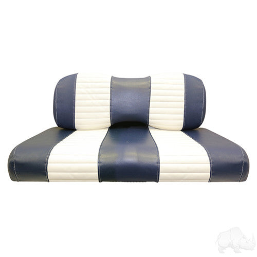 Seat Back & Bottom Covers, Navy/White, Yamaha Drive
