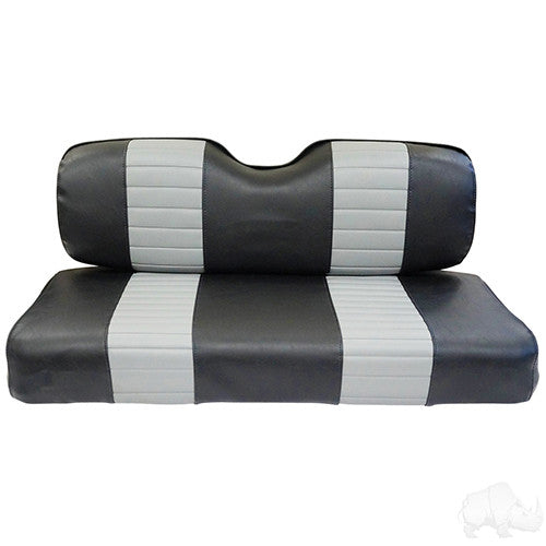 Seat Back & Bottom Covers, Black/Gray, Club Car DS New Style