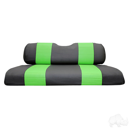 Seat Back & Bottom Covers, Black/Lime, Club Car DS New Style