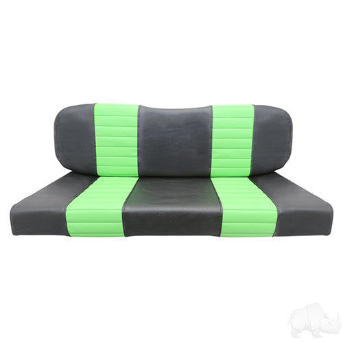 Seat Back & Bottom Covers, Black/Lime, RH Rear Seat Kit Small