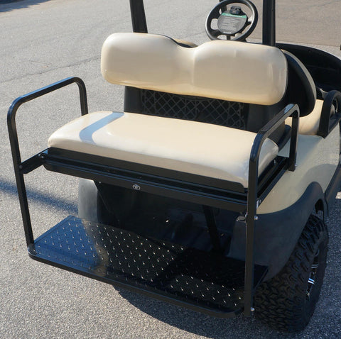 CLUB CAR PRECEDENT Rear Flip Seat (Buff, White, and Black Cushions)
