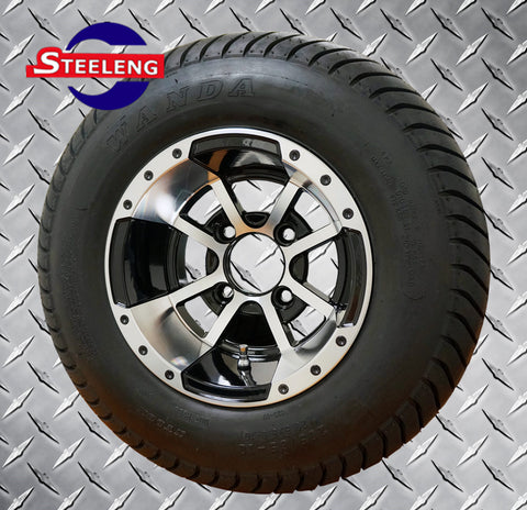 "10"" MACHINED STORM TROOPER WHEELS and 205/65-10 DOT COMFORT RIDE TIRES (SET OF 4)"