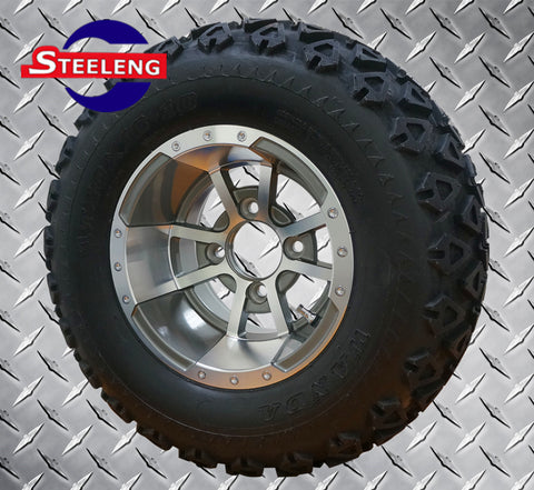 "10"" GUNMETAL STORM TROOPER WHEELS and 20"" ALL TERRAIN TIRES (SET OF 4)"