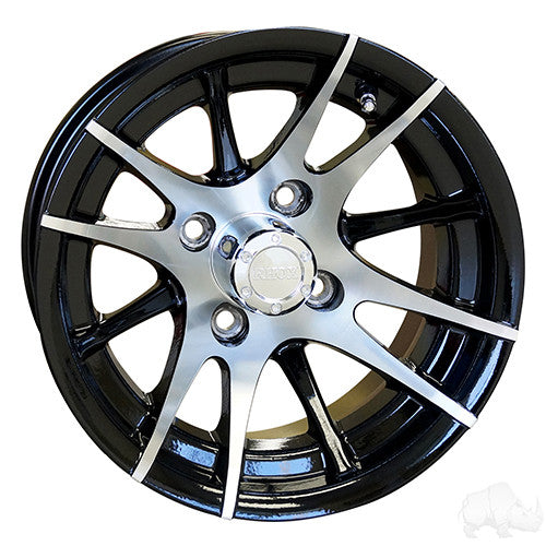 RX101, 12 Spoke, Machined w/Black w/ Center Cap, 12x7 ET-25