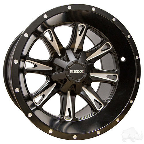 RHOX RX297, Machined Matte Black 14x8 ET-10