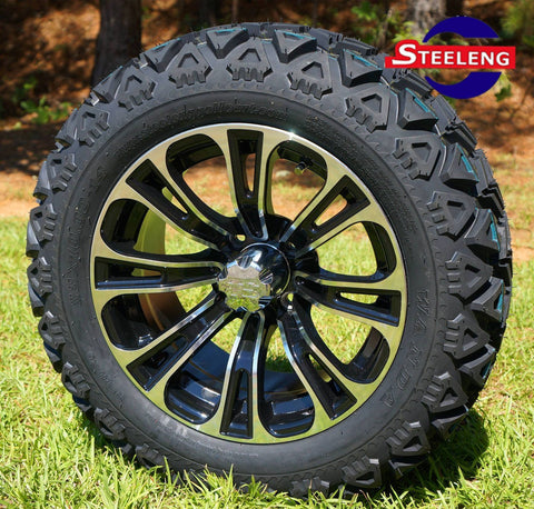 "14""x7"" VECTOR WHEELS and 23""x10""-14"" ALL TERRAIN TIRES (SET OF 4)"