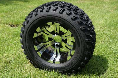 "12""x7"" VAMPIRE WHEELS and 23""x10.5""-12"" ALL TERRAIN TIRES (SET OF 4)"