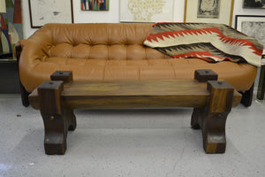Brazilian Modern Wood Solid Bench