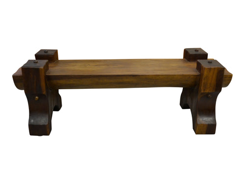 Brazilian Modern Exotic Wood Solid Bench