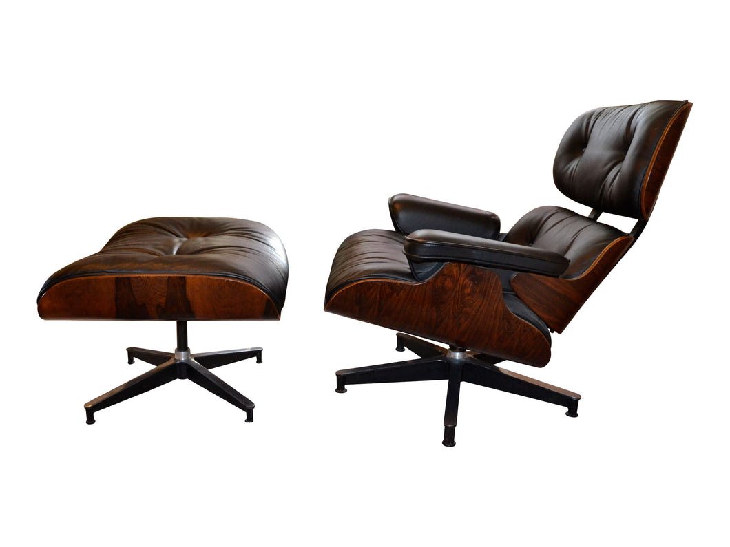 Eames Rosewood Lounge Chair and Ottoman 670/671