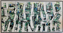 "Salto ""Hospital Green"" Large Abstract Mixed Media on Canvas"