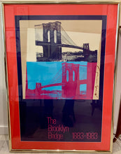 Signed Andy Warhol Poster brooklyn bridge
