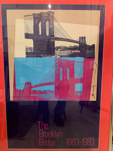 brooklyn bridge Signed Andy Warhol Poster