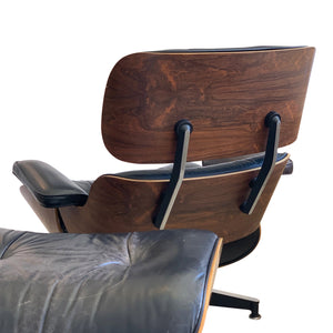 Eames Rosewood leather Lounge Chair and Ottoman 670/671
