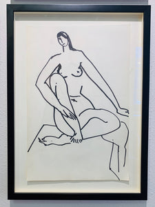 Framed Line Drawing by Serine Bonnist