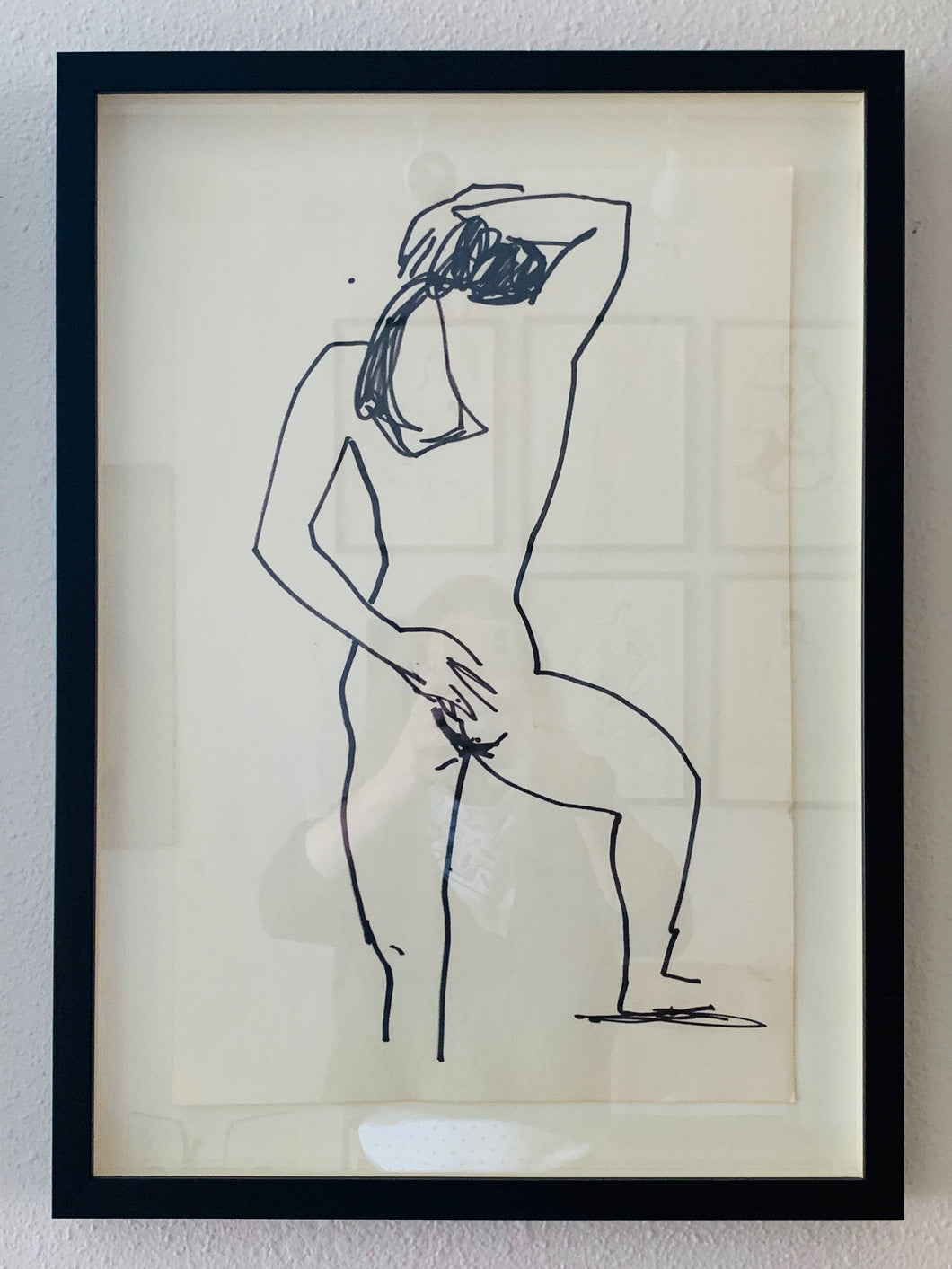 Framed Line Drawing by Serince Bonnist