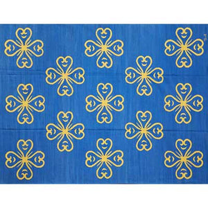 french accent rug blue and yellow