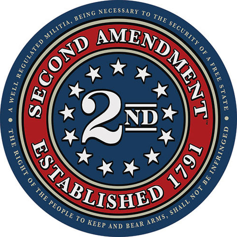 "4"" Second Amendment Brand ""Circle Seal"" Decal Sticker 2nd"