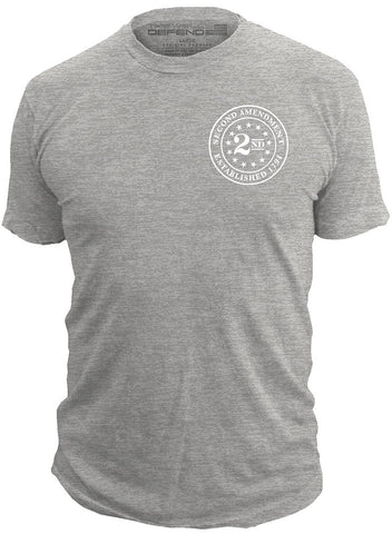 2nd Amendment™ Brand - Seal of 1791 - T-Shirt Second 2A USA, Athletic Grey
