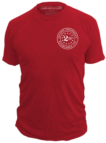 2nd Amendment™ Brand - Seal of 1791 - T-Shirt Second 2A USA, Red