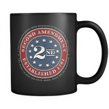2nd Amendment Brand - 11oz Black Coffee Mug